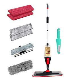 3 in 1 Spray Mop Kit With Reusable Microfiber cleaner Hardwo