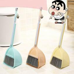 New Mini Stretchable Broom Dustpan Pretend Play House Cleani