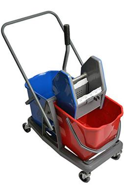 Janico 1014 Double Mop Bucket with Down Press Wringer