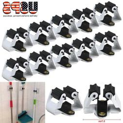 10pcs Wall Mount Mop Broom Holder Hanger Kitchen Cleaning To