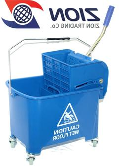 17QT Blue Mop Bucket Commercial Janitorial Mop Buckets