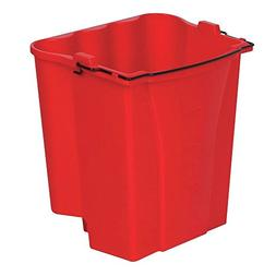 Rubbermaid 18 qt Red Plastic Dirty Water Bucket For 35 qt Wa