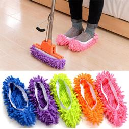 1pc Mop Slippers Lazy Floor Foot Socks Shoes Quick Polishing