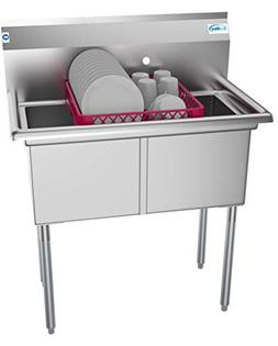 KoolMore 2 Compartment Stainless Steel NSF Commercial Kitche