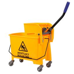 20L Mini Mop Bucket with Wringer Combo Commercial Rolling Cl