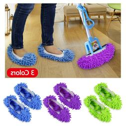 2Pcs Mop Slippers Lazy Floor Foot Socks Shoes Quick Cleaning