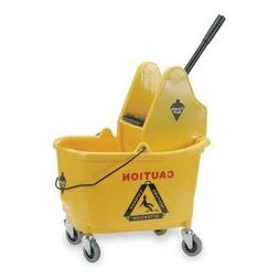 Mop Bucket and Wringer, 8-3/4 gal, Yellow