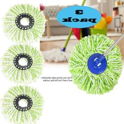 3 Pack Replacement Microfiber Mop Head Refill For Spin Mop 3
