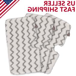 3 Pack Steam Mop Pads with Scrub Strips Microfiber Replaceme