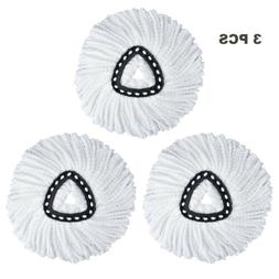 3 pcs triangle mop head refill