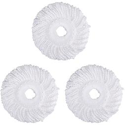 3 Replacement Mop Micro Head Refill For 360° Spin Magic Mop