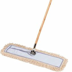 30 Inch Commercial Strength Cotton Dust Mop with Solid Wood
