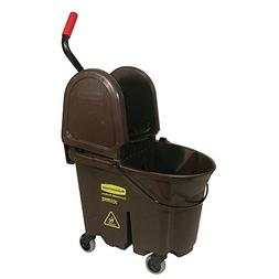 Rubbermaid 35 qt Brown Plastic WaveBrake Mop Bucket with Dow