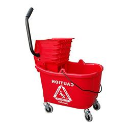 SunnyCare 35qt Mop Bucket with Wringer: Side Press -Plastic