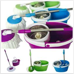 360-Degree Rotary Head Ultra Slim Microfiber Mop Stainless S