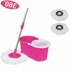 360° EasyWring Microfiber Spin Mop and Bucket Floor Cleanin