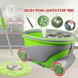 360° Spin Rotating Head Easy Magic Floor Mop Bucket with 2