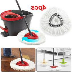 4Pc Replacement Head Easy Home Cleaning Mopping Wring Spin M