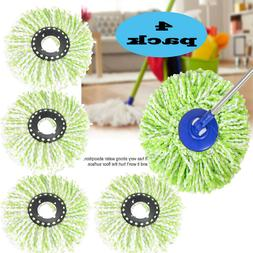 4-pack Replacement Microfiber Mop Head Refill for Hurricane