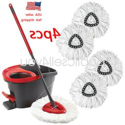 4pcs replacement head easy home cleaning mopping
