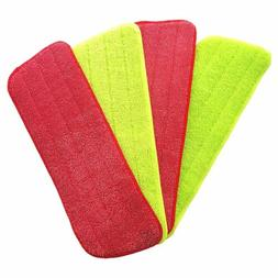 4Pcs Spray Mop Replacement Pads Washable Refill Microfiber W