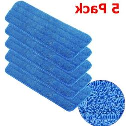 5 Pack Replacement Washable Blue Microfiber Mop Cleaning Pad
