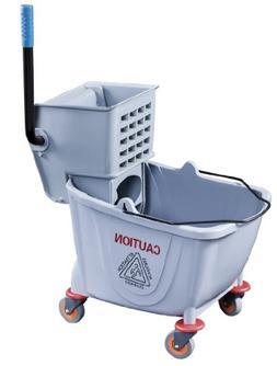 New Star Foodservice 54712 Commercial Mop Bucket and Wringer