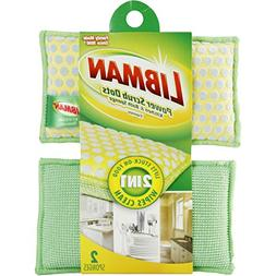 Libman 336 Power Scrub Dots Kitchen and Bath Sponge