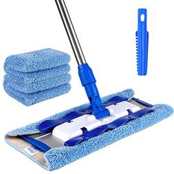 MR. SIGA Professional Microfiber Mop,Stainless Steel Handle