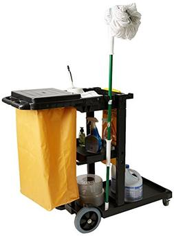 Mind Reader Commercial Janitorial Utility Cart with Yellow V