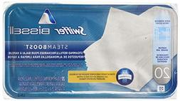 Bissell SteamBoost Pad Refills, 10 x 9, White, 20/Pack