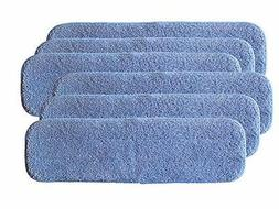 AI-Vacuum 6-Pack of 18 x5 Blue Microfiber Mop Pads for Bona,