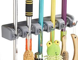 Hulless Broom Holder, Wall Mounted Orgnizer Storage Hooks, M