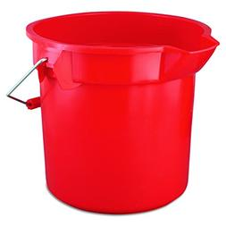 Rubbermaid Commercial Brute Round Utility Pail, 14Qt, Red, C