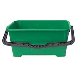 Unger Pro Bucket, 6Gal, Plastic, Green, Case of 2