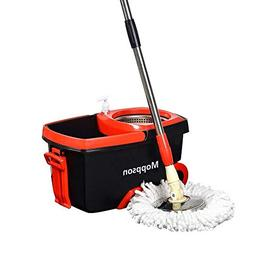 Moppson Bucket Mop Spin Mop Bucket System Stainless Steel Sq