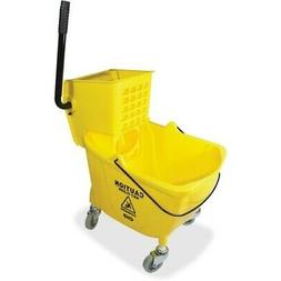Genuine Joe Bucket/Wringer Combo Sidepress, 16x14x21, Yellow