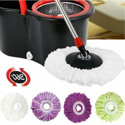 Clean Round Mop Head Twist Spin Mop System with Bucket and M