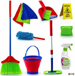 Play22 Kids Cleaning Set 12 Piece - Toy Cleaning Set Include