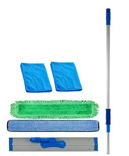 Real Clean 48 inch Professional Commercial Microfiber Mop wi
