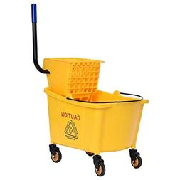 Toolsempire Commercial Mop Bucket Side Press Cleaning Wringe
