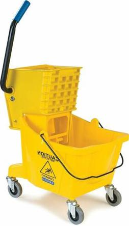 Commercial Mop Bucket Side Press Wringer on Wheels Cleaning