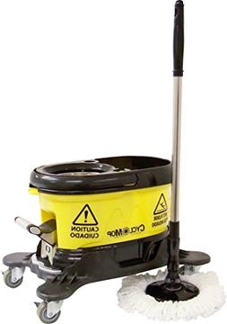 CycloMop Commercial Spinning Spin Mop with Dolly Wheels - He
