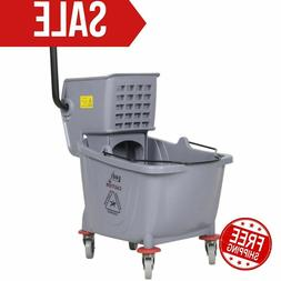 Commercial Wet Mop Bucket & Wringer Combo 36 Quart Gray  Jan