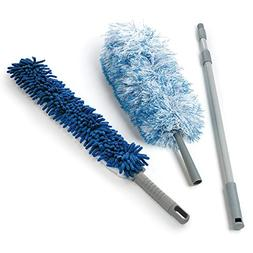 O-Cedar Dual-Action Microfiber Duster Set with Telescopic Ha