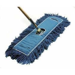 "HUBERT Dust Mop Head with Blue Cotton Yarn - 48""W Frame and"