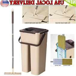 Dust Wizard Mops Cleaning Tool Kit 360° Rotating for Hardwo