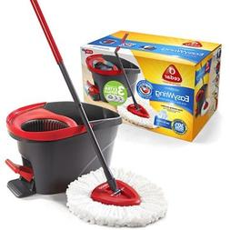 O-Cedar Easy Wring Spin Mop & Bucket System with 3 Extra Ref