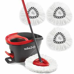 O Cedar Easy Wring Spin Mop & Bucket System with 2 Extra Ref