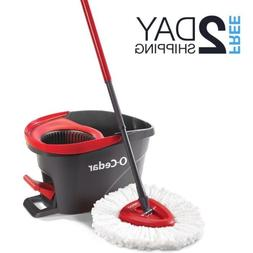 Easy Wring Spin Mop Bucket System for Wood Floors Cleaning H